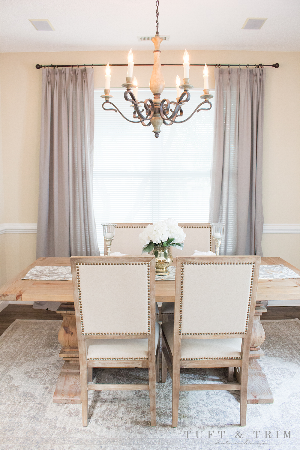 Before & After Dining Room: Rustic Elegance