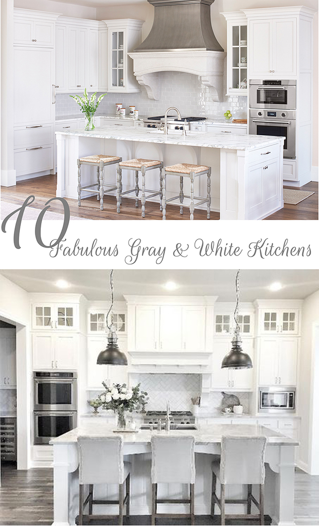 48 Fabulous Gray And White Kitchens Tuft Trim Gorgeous White Kitchen Design