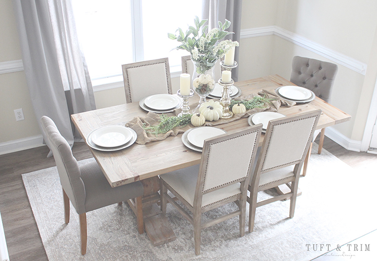 5 Tips for creating an elegant fall home. Set the table