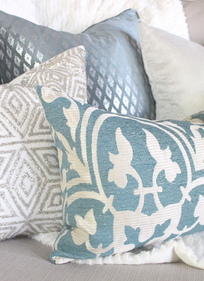 A Home Goods Makeover: Teal and Silver