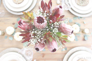 Elegant and Rustic Thanksgiving Centerpiece