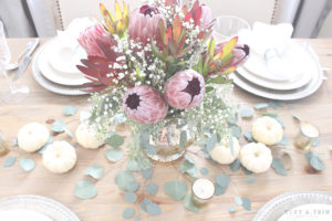 Elegant and Rustic Thanksgiving Table. Get the look at tuftandtrim.com