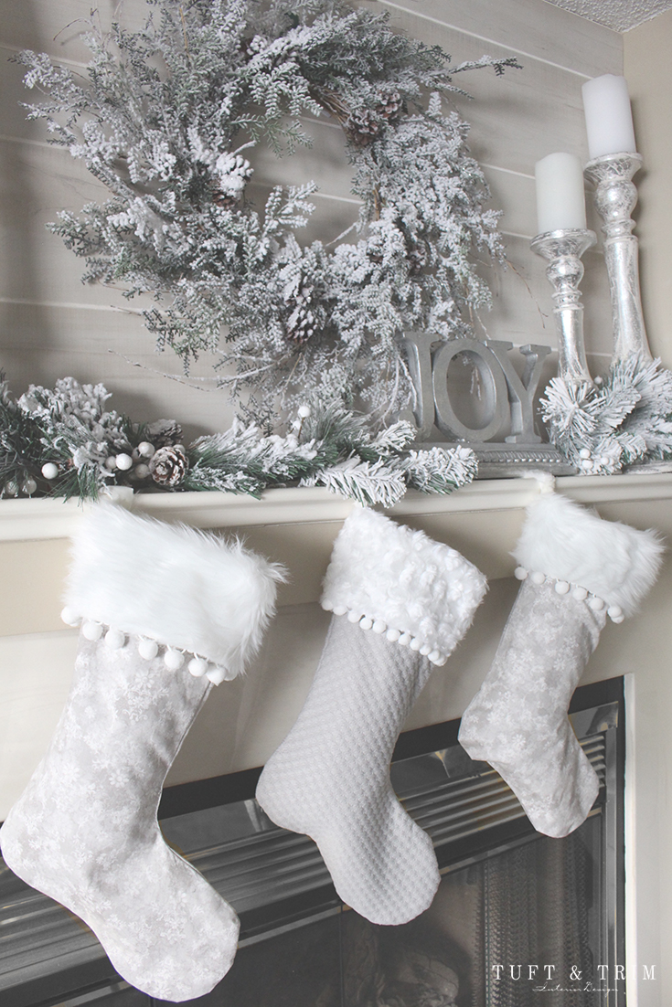 Holiday Home Tour and Decorating Tips with Tuft & Trim: Christmas Stockings
