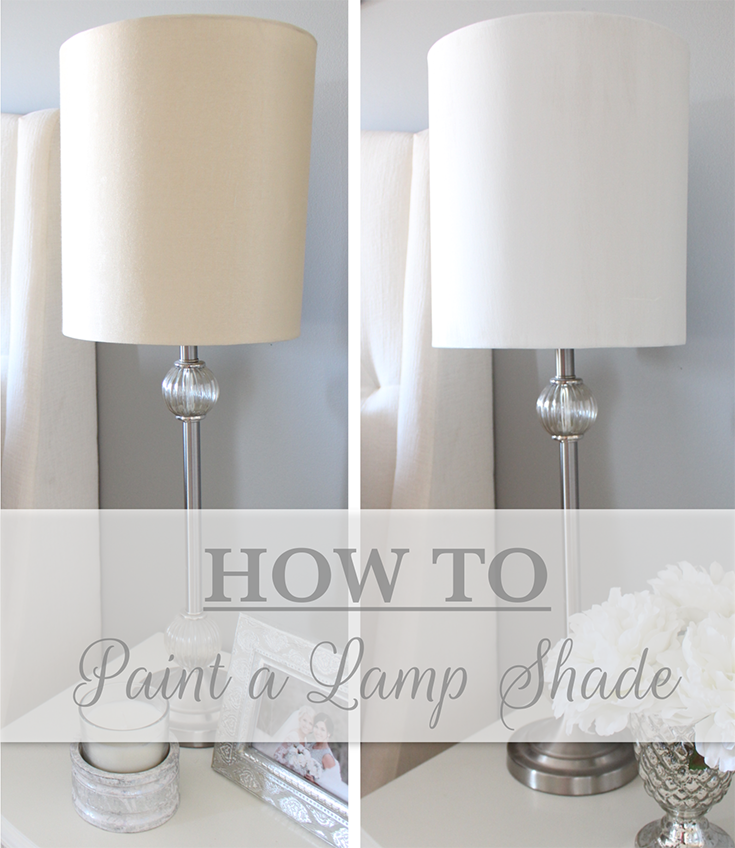 How to paint a lamp shade tutorial