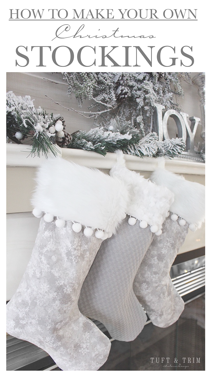 how to make your own christmas stockings