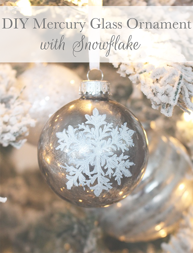 Diy mercury glass ornament with snowflake tuft trim diy mercury glass ornament with snowflake solutioingenieria Image collections