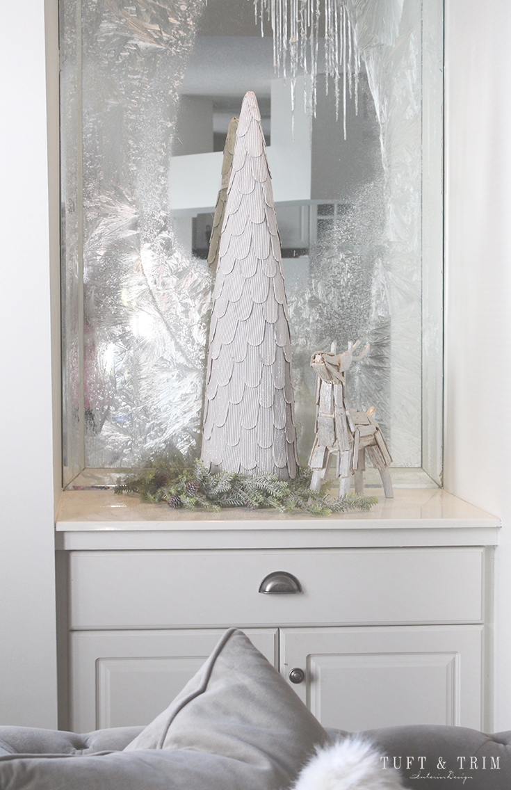 Holiday Home Tour and Decorating Tips with Tuft & Trim: Frosted Windows