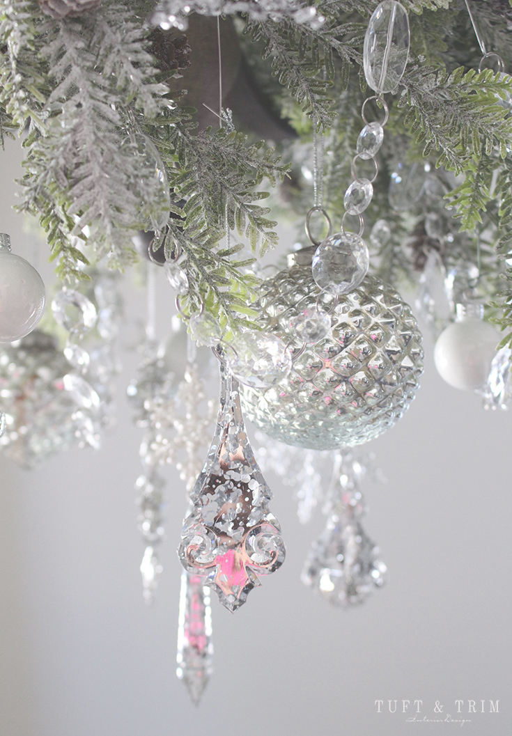 Holiday Home Tour and Decorating Tips with Tuft & Trim: Christmas Chandelier