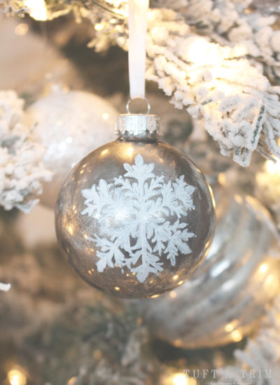 DIY Mercury Glass Ornament with Snowflake