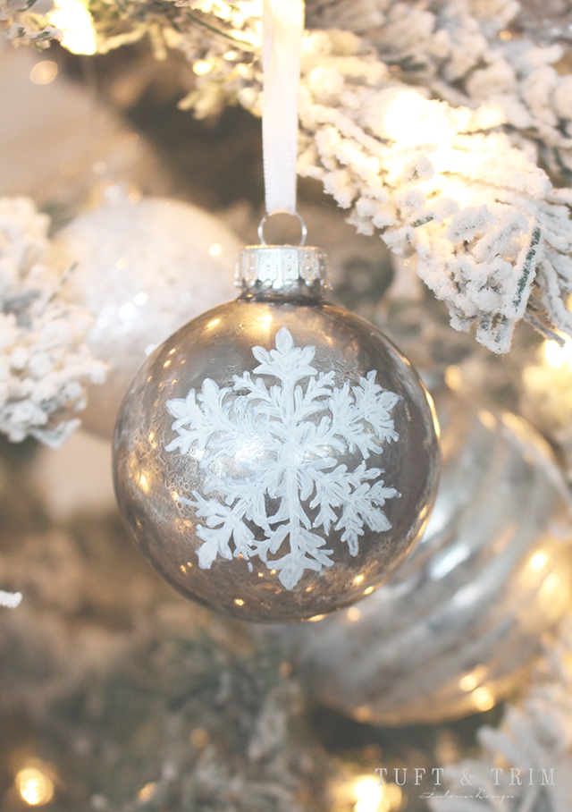 Diy mercury glass ornament with snowflake tuft trim diy mercury glass ornament with snowflake learn how to make it yourself solutioingenieria Gallery