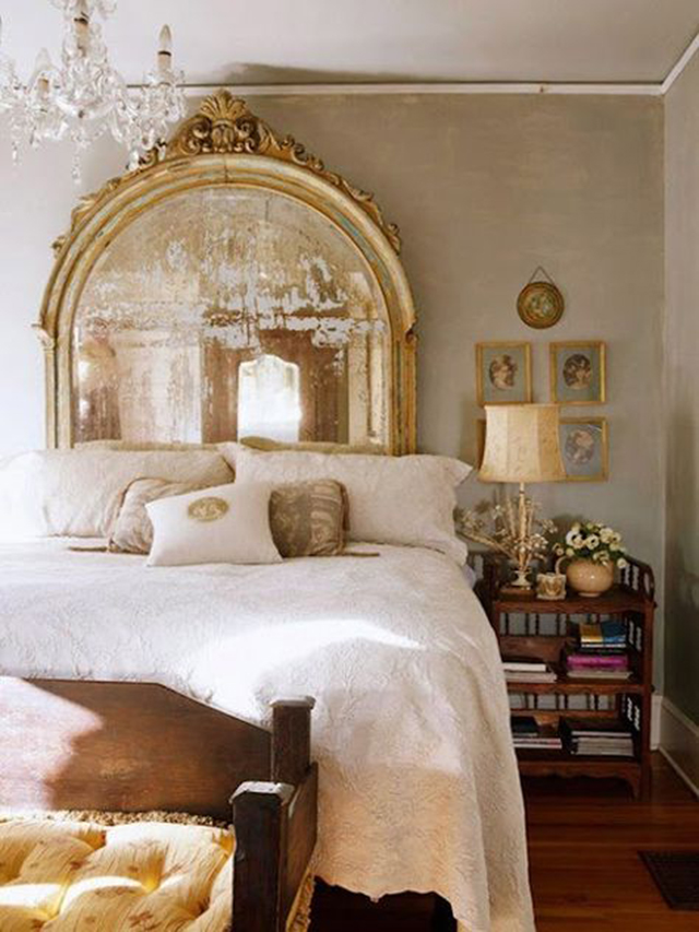10 Creative DIY Headboard Ideas: Mirror Headboard