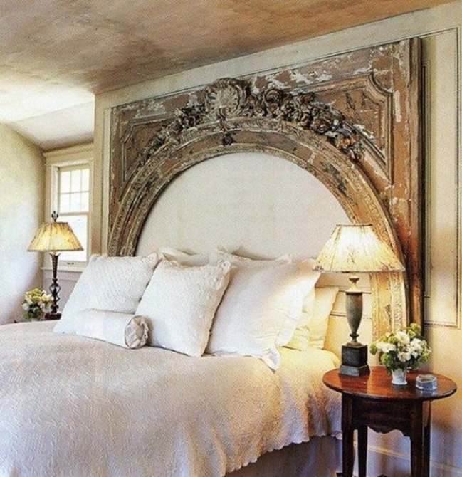 10 Creative DIY Headboard Ideas: Architectural Element Headboard
