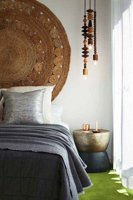 10 Creative DIY Headboard Ideas: Rug Headboard