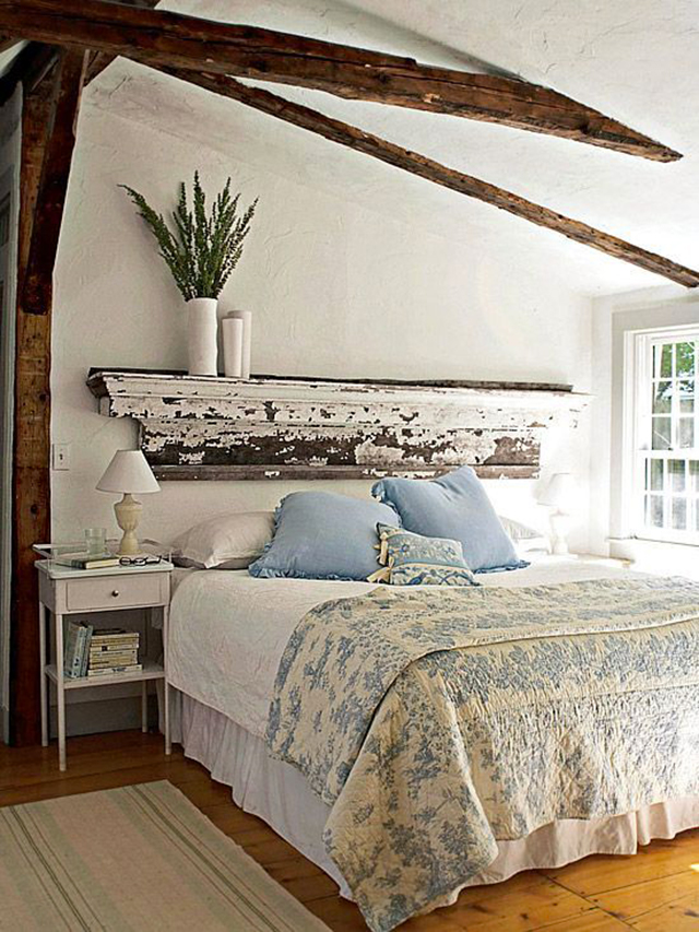 10 Creative DIY Headboard Ideas: Shelf for Headboard