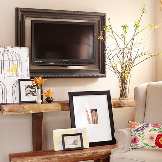 Fabulous 8 Creative Ways To Decorate Around Your Tv Tuft Trim Home Interior And Landscaping Ologienasavecom