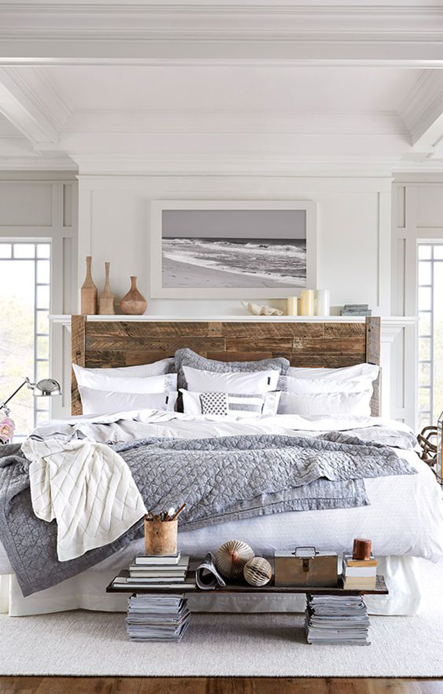 10 Creative DIY Headboard Ideas: Reclaimed Wood Headboard