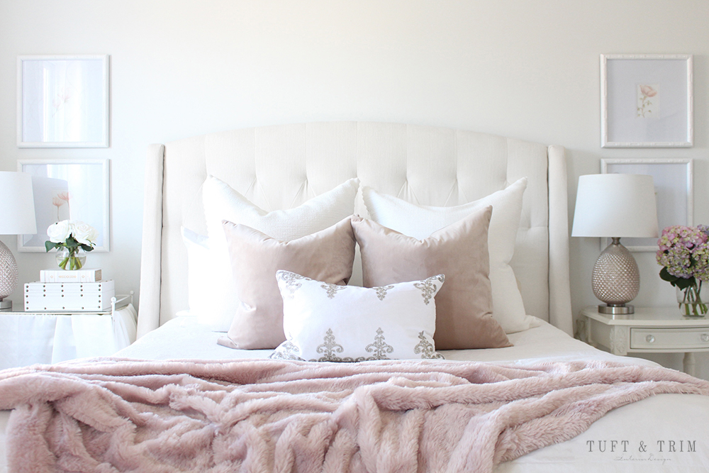 Elegantly Blush Room Design: The Reveal by Tuft & Trim Interior Design