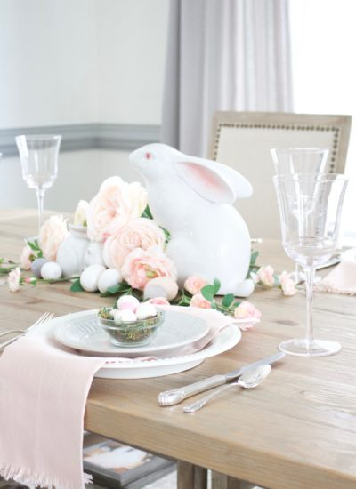 Beautiful & Affordable Easter Table Decorating Tips with DIY Favors