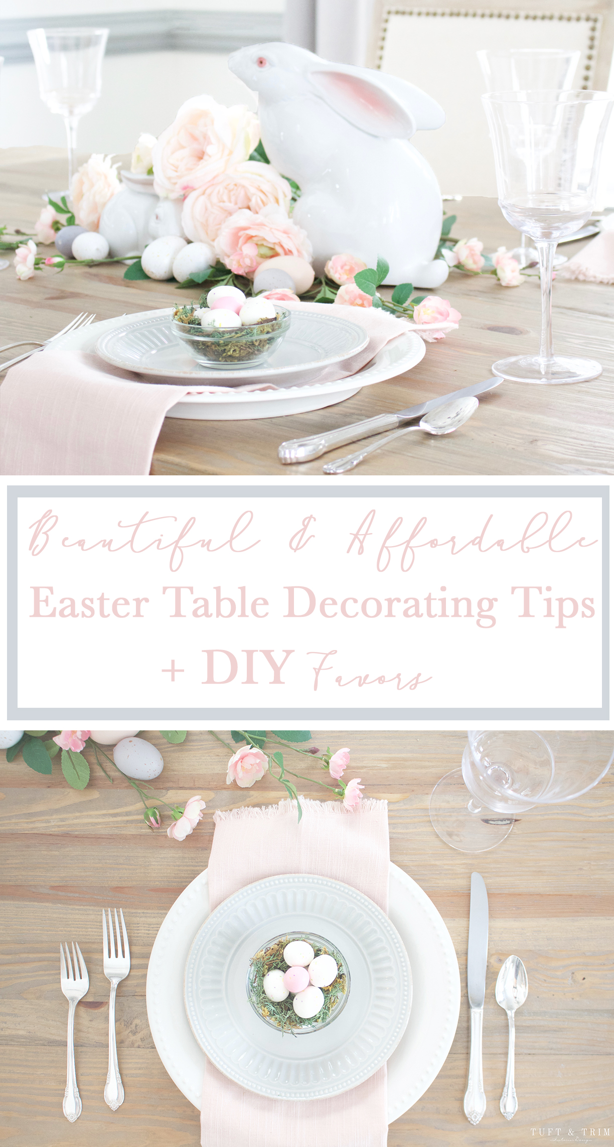 Spring Is Finally Here, Which Means Easter Is Right Around The Corner! Itu0027s  Time To Start Brightening Up Your Home And An Easter Tablescape Is A Great  Place ...