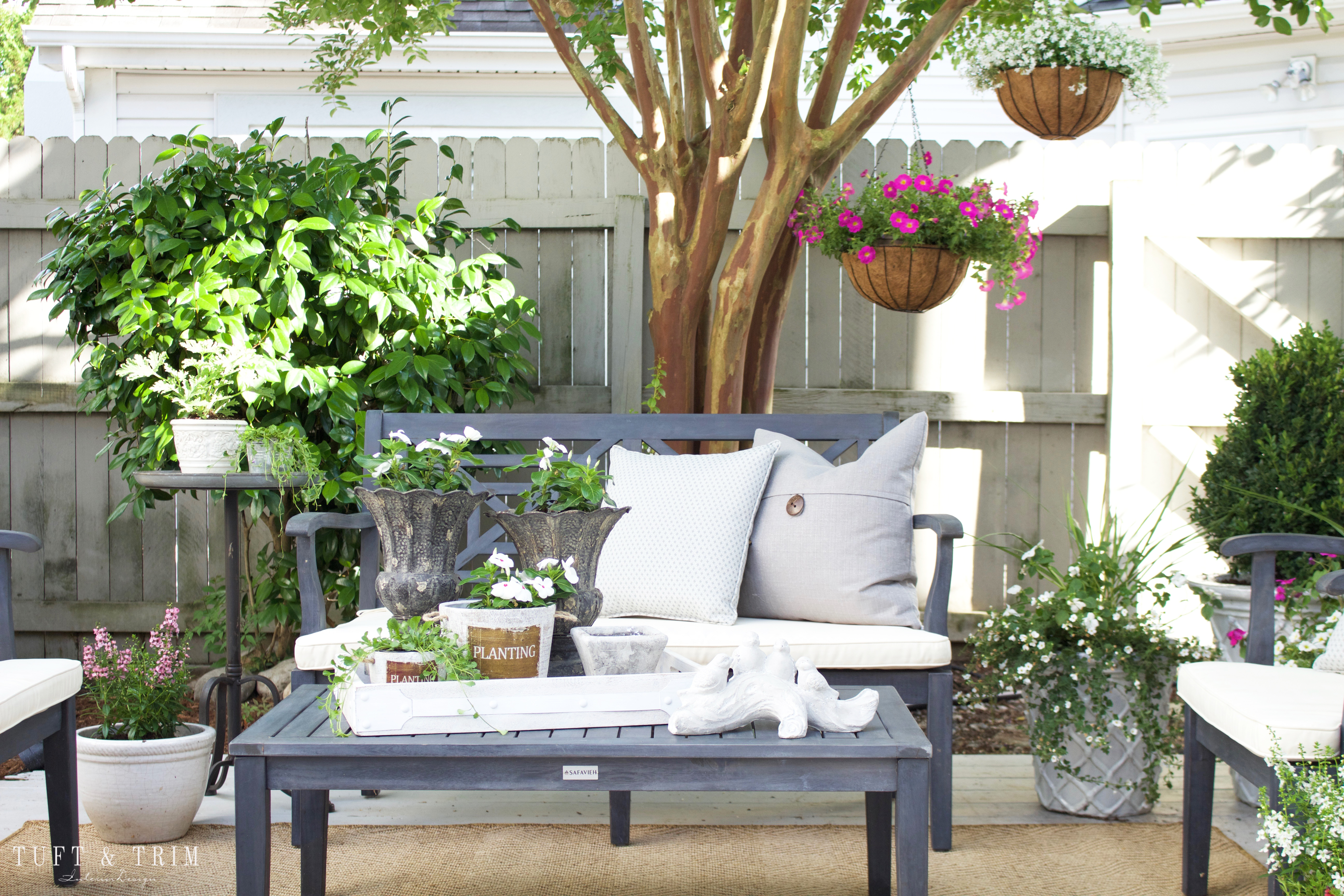 Summer Outdoor Living Blog Tour with Tuft & Trim