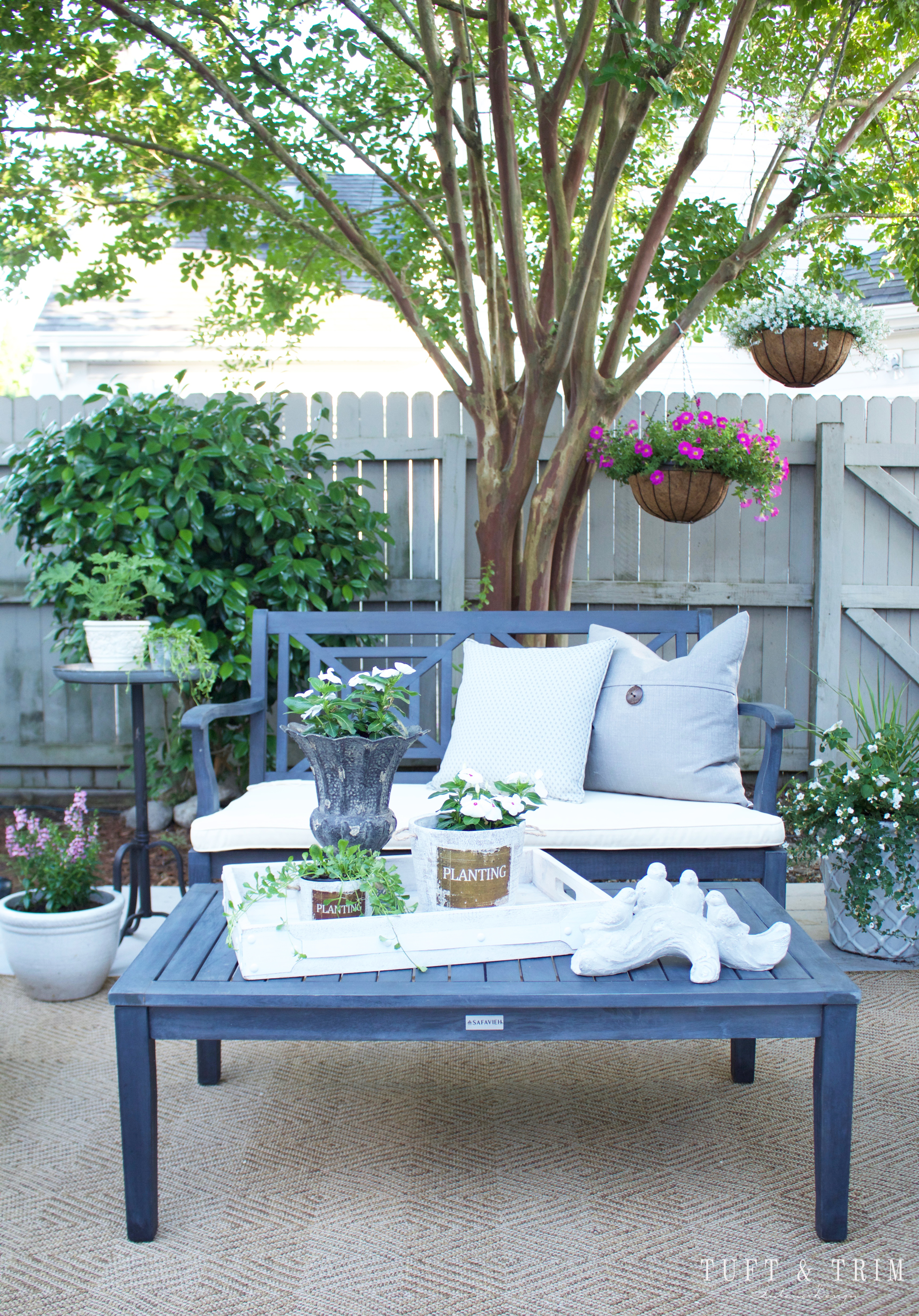 Summer Outdoor Living Tour: Before and After with Tuft & Trim