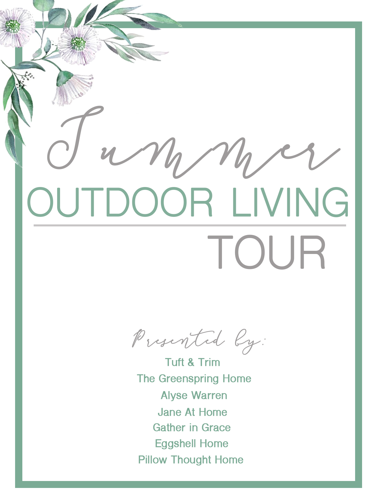 ummer Outdoor Living Tour: Before and After with Tuft & Trim