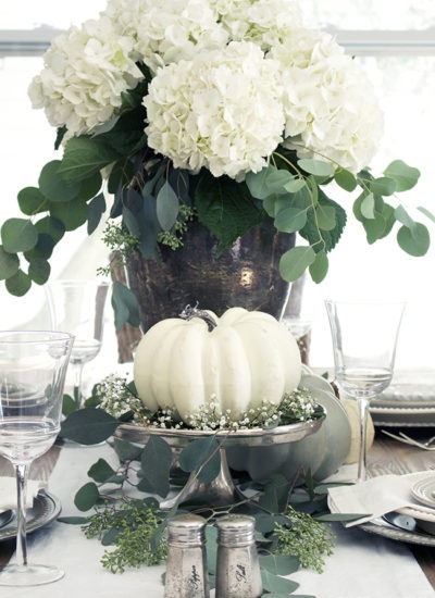 Elegant and Neutral Fall Tablescape and Decor