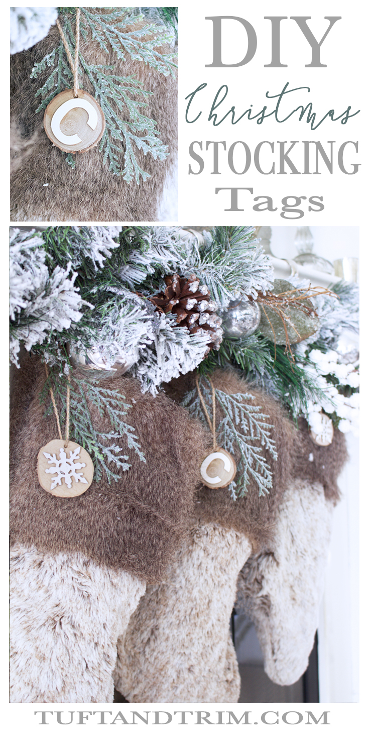 DIY Personalized Christmas Stocking Tags