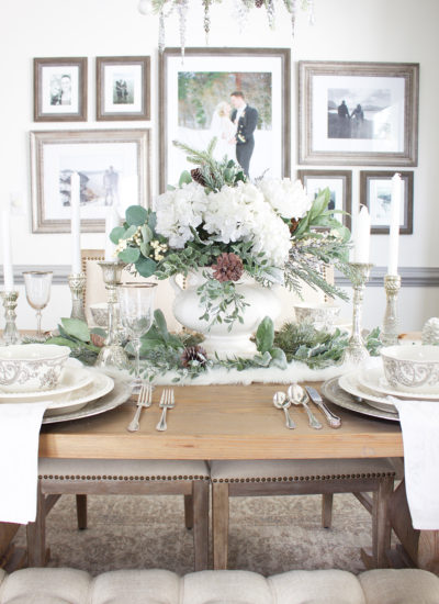 Holiday Tour Part 2: An Elegant White Christmas Tablescape