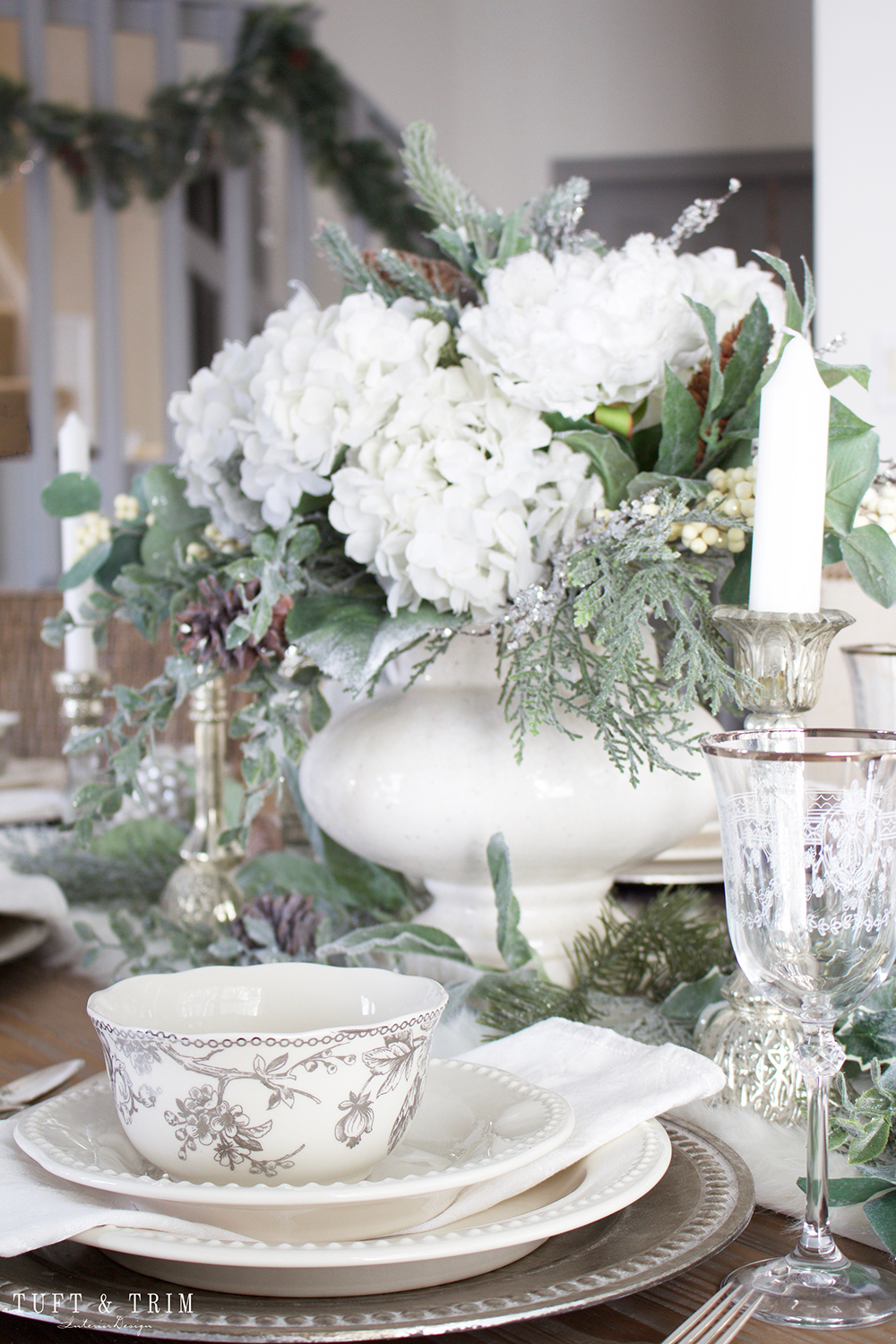 Holiday Tour Part 2 An Elegant White Christmas Tablescape