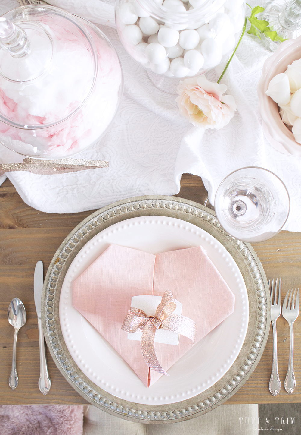 Pretty in Pink: Valentines Day Tablescape Tour with Tuft & Trim