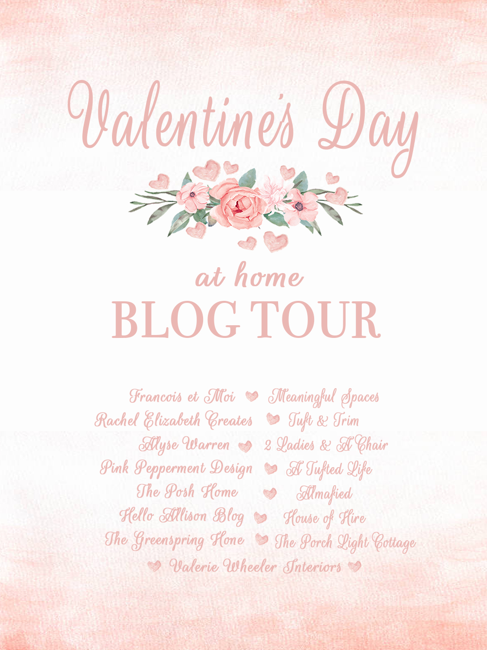 Pretty in Pink: Valentines Day at Home Blog Tour with Tuft & Trim