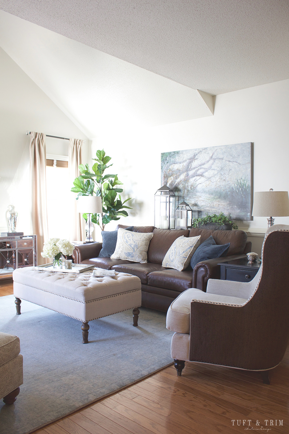 Before and After: A Living Room Transformation - Tuft & Trim