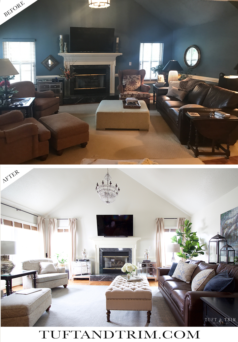 Before And After Diy Kitchen Renovation: Before And After: A Living Room Transformation