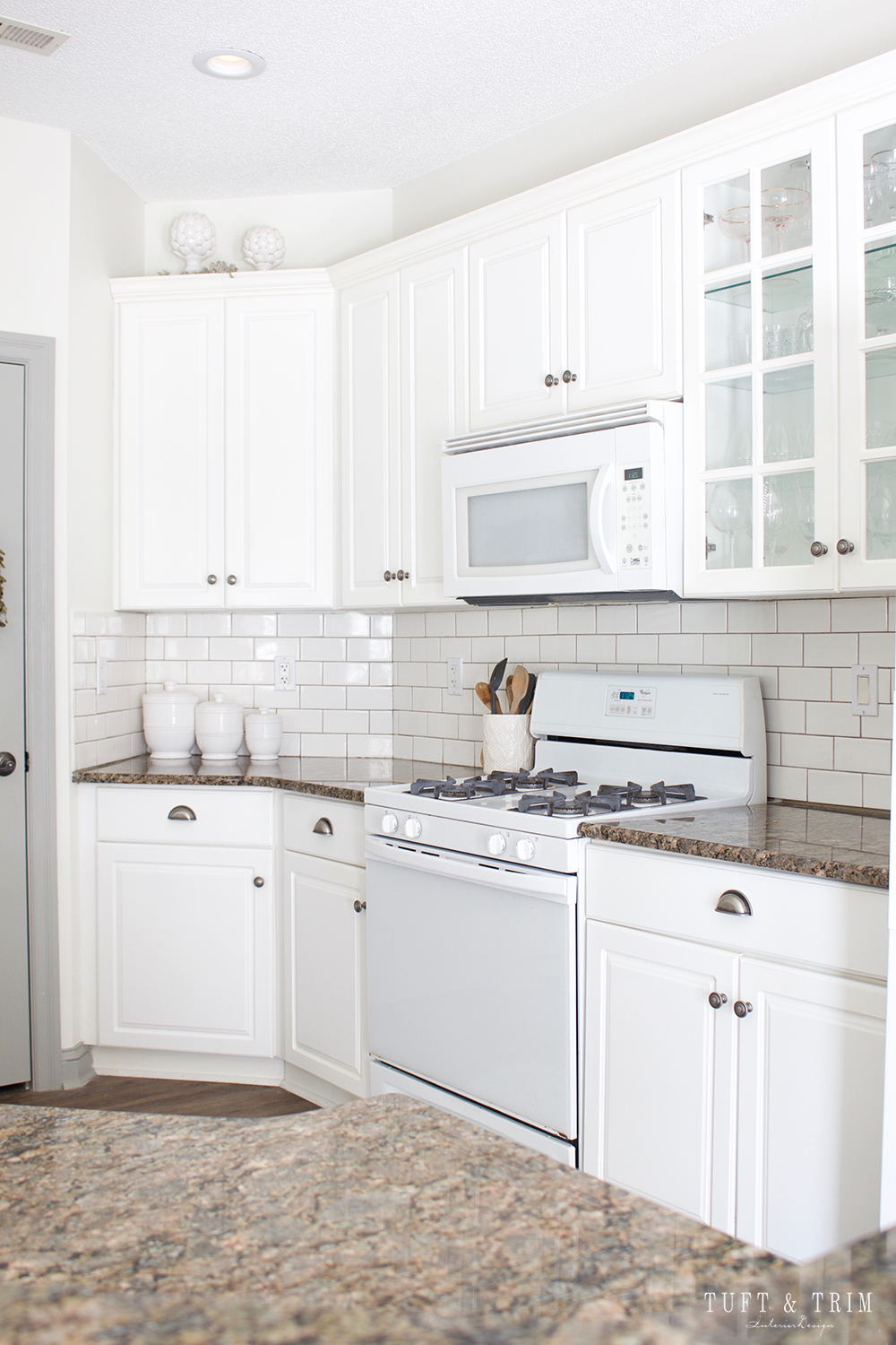 DIY Subway Tile Backsplash - Tuft & Trim