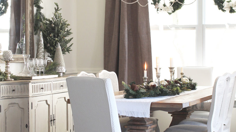 Elegant Christmas Home Tour Part 2: The Dining Room