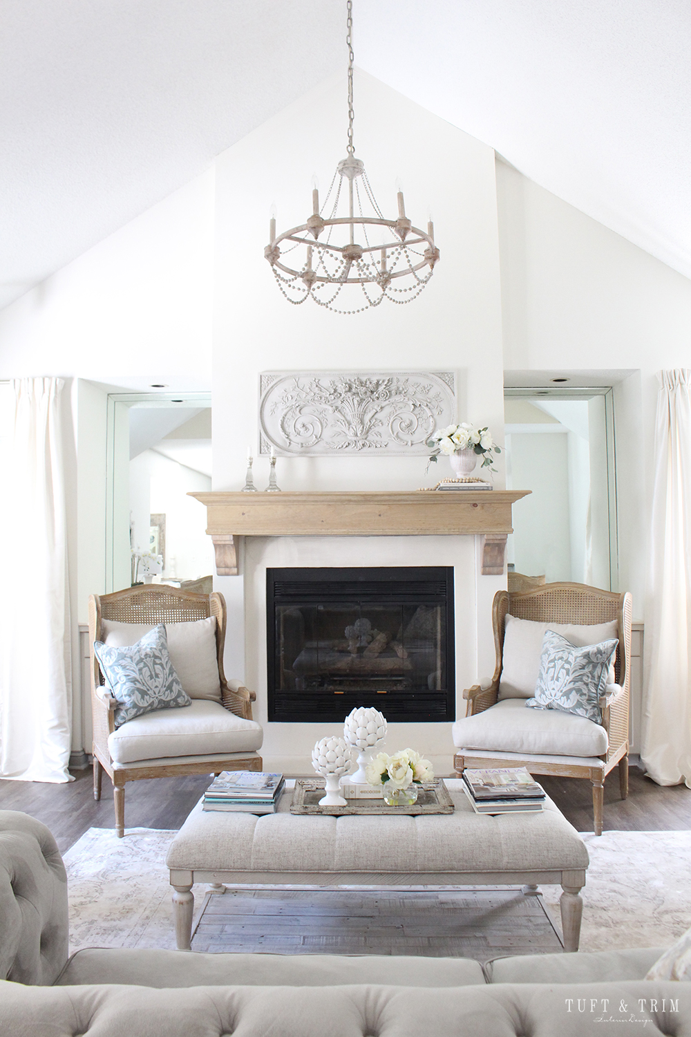 Before And After Fireplace Mantel Diy Tuft Trim