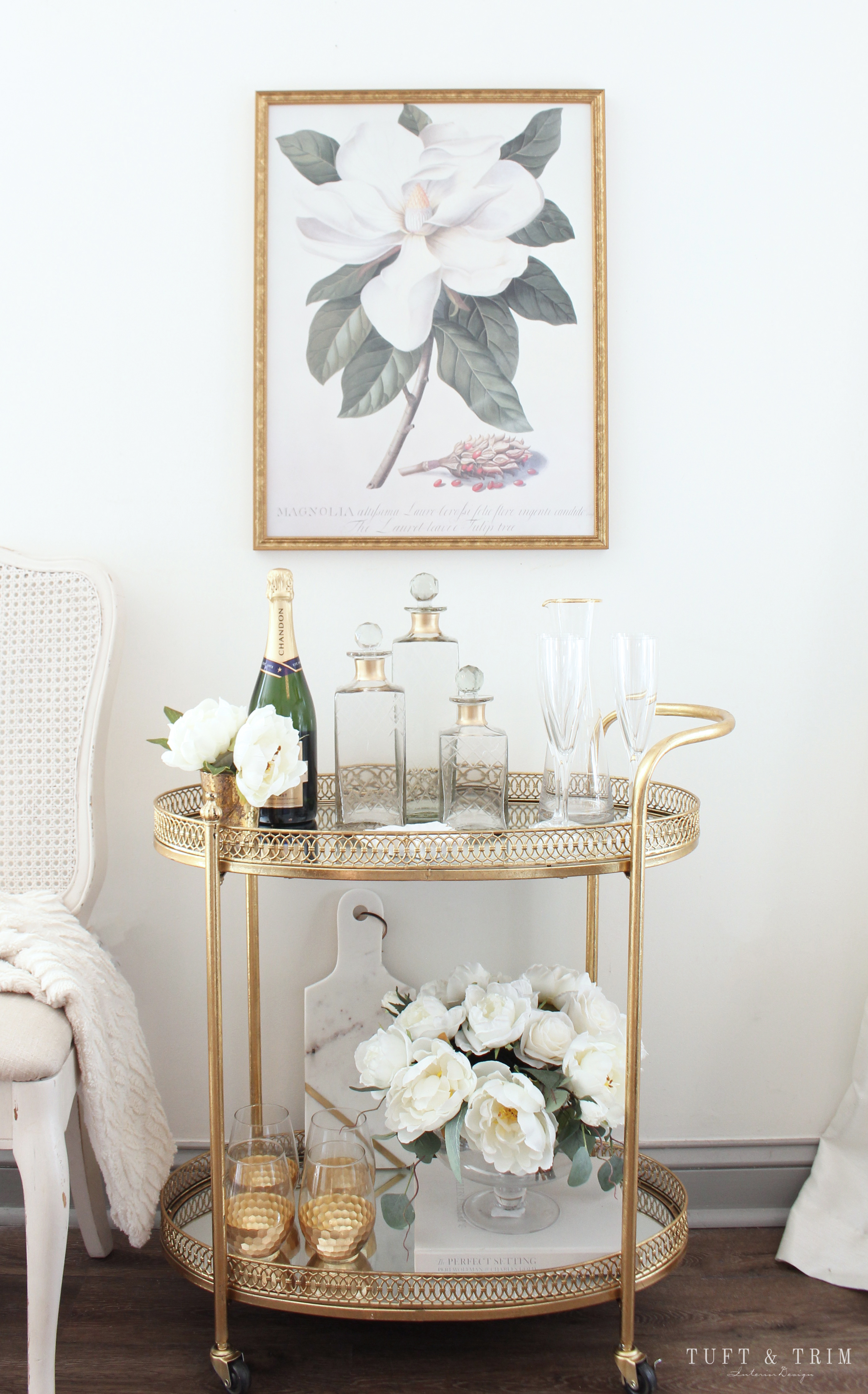 Bar Cart Styling Tips Ideas Tuft Trim