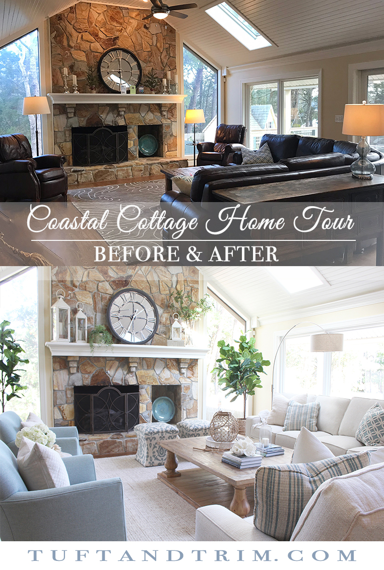 Formal Dining Table Setting Ideas, Coastal Cottage Home Design Before After Tuft Trim